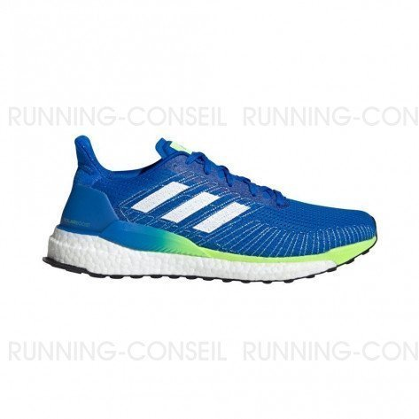 ADIDAS SOLARBOOST 19 Homme   Glory Blue / Ftwr White / Signal Green