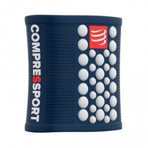 COMPRESSPORT Serre-poignet SWEATBANDS 3D.DOTS | Bleu/Blanc