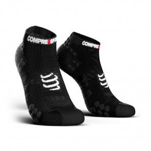 COMPRESSPORT Chaussettes basses PRO RACING SOCKS V3.0 RUN LOW Homme | Noir